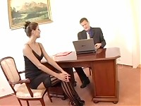Lucky is an ironic stage name for this brunette Babe. She's elegant and fun to fuck which means the real Lucky one is her boss! He has been boning her every weekday for months and he still plans to fire her at the end of the month. Time for a new whore it