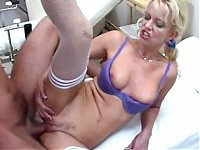 Blonde mature nurse fucked by the doctor