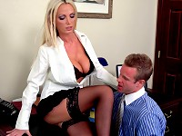 Perfect tits Nikki Benz wants her coworkers cock so bad