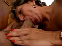 Sexy senior sucks dick and gets fucked