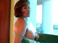 Hot Wife Roni in pantyhose with dildo