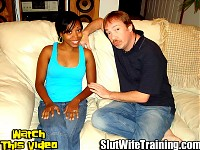 Kenny sends his wife Kim to the infamous Slut Wife Trainer Dirty D to have her sexual horizons broadened. Kenny really wants to see his wife being fucked by another man. Dirty D begins his lesson by testing Kims oral skills. Dirty D finds them to be excellent with little to no gag reflex as she deep throats his hard cock. Dirty D has Kim mount his cock for her husband to see what a good slut she is turning out to be. Dirty D fucks Kims tight wet snatch while teaching her some new sex positions to try at home. Dirty D finishes of his lesson by giving Kim a messy creampie.
