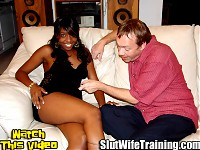 Eric enjoys Dirty Ds debauchery so he sent his wife Shandra over to be trained by multiple men. Dirty D has some of his boys over to help him put Shandra through a course of slut wife training. Dirty D and crew start by inspecting the student body. They strip Shandra naked showing off her nice natural tits and shaved pussy. Shandra drops to her knees and the guys surround her with their cocks testing her oral skills. Dirty D takes the training to the couch to give Shandra some double dicking. Shandra proves she is Daddys good little slut going for extra credit by serving up her tight ass. Every guy takes a turn enjoying all of Shandras hot wet holes. Dirty D gives Shandra an anal creampie as his seal of approval. He is followed by his boys fucking Shandra and shooting their hot cum loads all over her pretty face. They send her home to Eric a cum coated mess.