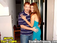 Johnny is sending his hot wife Marissa to Dirty D to find her inner slut. Johnny enjoys watching his wife flirt and tease men in public with her sexy body. Dirty D is going to take it to the next level. Dirty D is going to unleash Marissas slutty side. Dirty D strips Marissa naked exposing her perky natural tits nice ass and shaved pussy. Dirty D puts Marissa on her knees to evaluate her oral skills. She slurps down his dick and licks his balls to make her husband proud. Dirty D is impressed by Marissas deep throat skills.  Dirty D moves on to fucking her hot wet pussy and invites a friend to join in slutting Marissa out. While Marissa is sucking dick Dirty D fills her pussy with a hot cum load giving her a creampie. Marissa wants to be fucked more so Dirty Ds buddy pounds her pussy. Marissa tells him to shoot his load inside her too. Marissa has a second creampie dripping from her pussy. Marissa pushes the creampie back inside with her finger to save it for her husband to have some sloppy seconds when she g