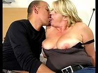 Chubby mature slut really loving that black cock