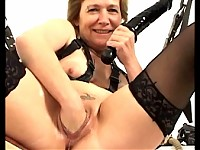 Kinky sex granny shows what she's got