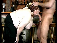 Fat mature slut sucking and fucking