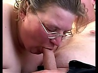 She loves swallowing that hard throbbing cock