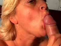 This big mama loves the taste of cum