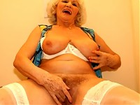 Granny loves cock through a peephole