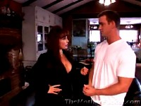 A retired porn star seduces a buff guy in these vids