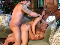 Gang bang  all holes filled