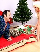 Hot blonde MILF makes a younger guys Xmas wish cum true Picture 1