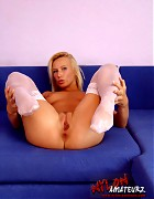 Hot blonde Gina in various stockings Picture 11