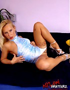 Hot blonde Gina in various stockings Picture 18