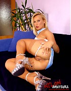 Hot blonde Gina in various stockings Picture 19