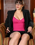 Hot secretary in classy pantyhose Picture 5