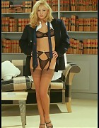 Sassy Business Boss In Power Suit And Tan Silk Stockings Picture 2