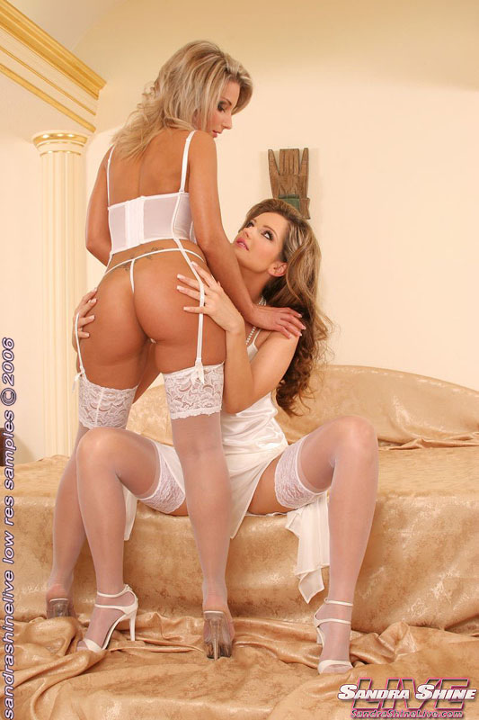 Hot lesbians in socks pleasure each other 10