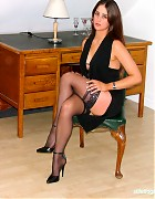 Becky Bailey show her hot heels and black stockings Picture 3