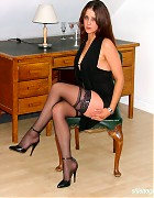 Becky Bailey show her hot heels and black stockings Picture 5