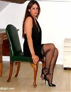 Becky Bailey show her hot heels and black stockings Picture 7