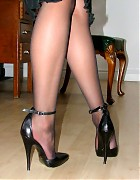 Becky Bailey show her hot heels and black stockings Picture 13