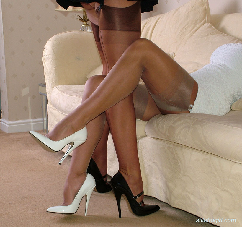 Heel high in nylons sexy